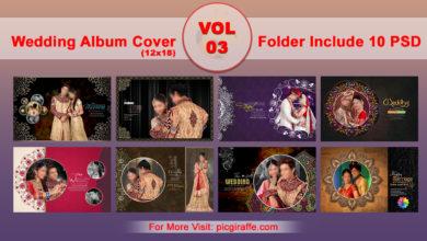 Photo of 12×18 Wedding Album Cover DM PSD VOL 03 free download