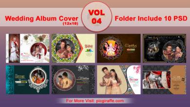 12x18 DM Wedding Album Cover Design VOL 4 Free Download Picgiraffe.com