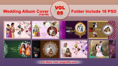 Photo of 12×18 Wedding Album Cover DM PSD VOL 05 free download