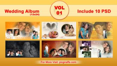 Photo of 12×24 Wedding Album Psd Design Templates VOL 01 free download