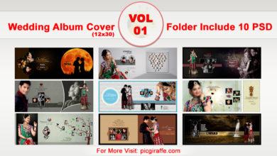 12x30 DM Wedding Album Cover Design VOL 1 Free Download Picgiraffe.com
