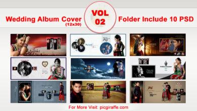 Photo of 12×30 Wedding Album Cover DM Psd Design Templates VOL 02