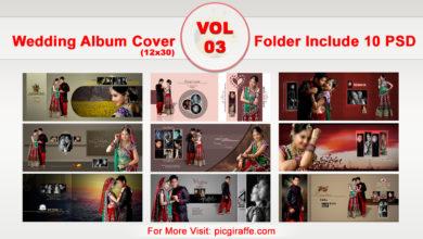 12x30 DM Wedding Album Cover Design VOL 3 Free Download Picgiraffe.com