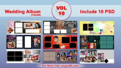 12x30 Wedding Album Design Psd Templates VOL 10 Free Download Picgiraffe.com