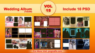 12x30 Wedding Album Design Psd Templates VOL 15 Free Download Picgiraffe.com