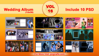 12x30 Wedding Album Design Psd Templates VOL 16 Free Download Picgiraffe.com