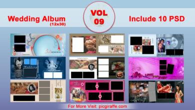 12x30 Wedding Album Design Psd Templates VOL 9 Free Download Picgiraffe.com