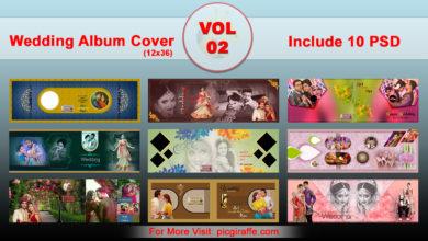 12x36 DM Wedding Album Cover Design VOL 2 Free Download Picgiraffe.com