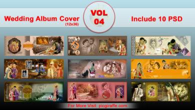 12x36 DM Wedding Album Cover Design VOL 4 Free Download Picgiraffe.com