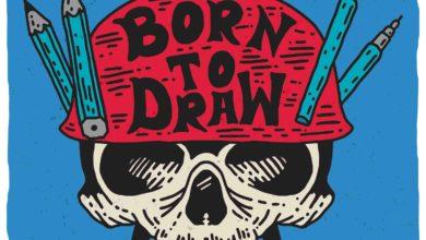 Photo of 2 Born to draw skull
