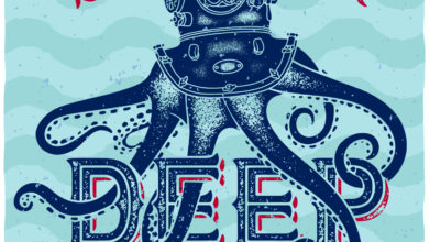 2 Octopus Diver T Shirt Design Free Download Picgiraffe.com