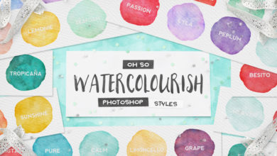 Photo of 90 Watercolor PS Styles + EXTRAS!