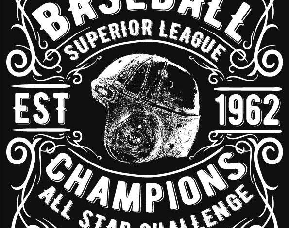 Baseball Superior League T Shirt Design Free Download Picgiraffe.com
