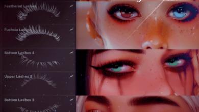 Big Eyelashes Brushset By Taozipie Procreate Free Download Picgiraffe.com