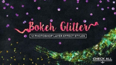 Photo of Bokeh Glitter Photoshop Layer Styles