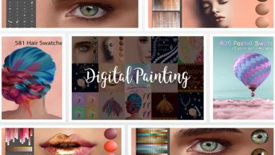 Photo of Digital Painting Assets for Creative Designers