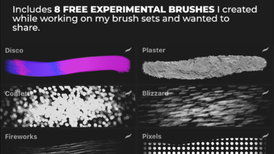 FREE Experimental Procreate Brush Set 8 FREE Brushes By Asia Orlando Free Download Picgiraffe.com