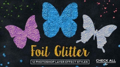 Photo of Foil Glitter Palette For Photoshop