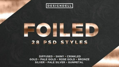Photo of Gold Foil Styles