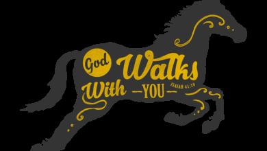 God Walks With You T Shirt Design Free Download Picgiraffe.com