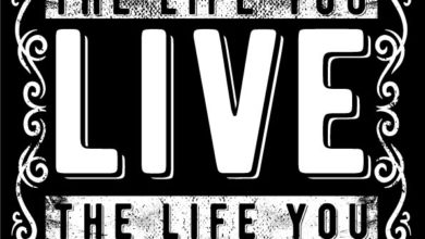 Photo of Love the life you live T shirt Design