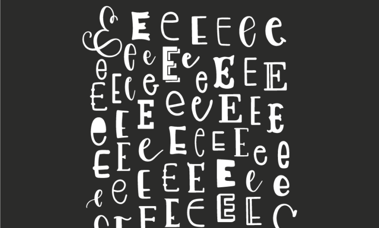 MANY WAYS TO LETTER E – FREE PROCREATE PRACTICE SHEET Free Download Picgiraffe.com