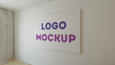 Office Wall Logo MockUp Vol 2 Free Download Picgiraffe.com