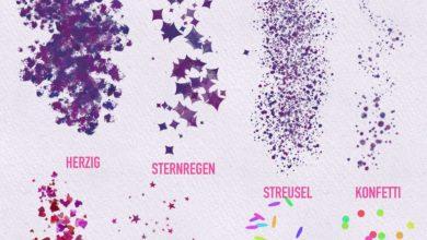 Stoni's Watercolor Nature Confetti Procreate Free Download Picgiraffe.com