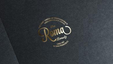 Photo of Realistic paper gold logo mockup