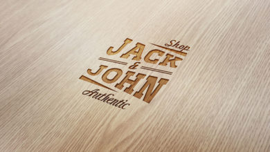 Stamp On Wood Logo Mockup Free Download Picgiraffe.com