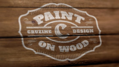 Wood Elements Photo Realistic Logo Mockup Free Download Picgiraffe.com