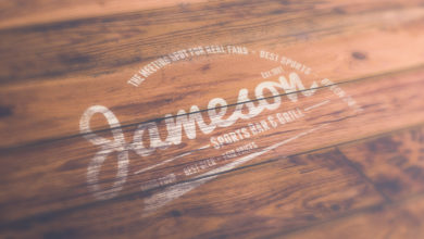 Wood Texture White Logo Mockup Template Free Download Picgiraffe.com