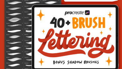 Photo of 40 Procreate Lettering Brushes 3670705