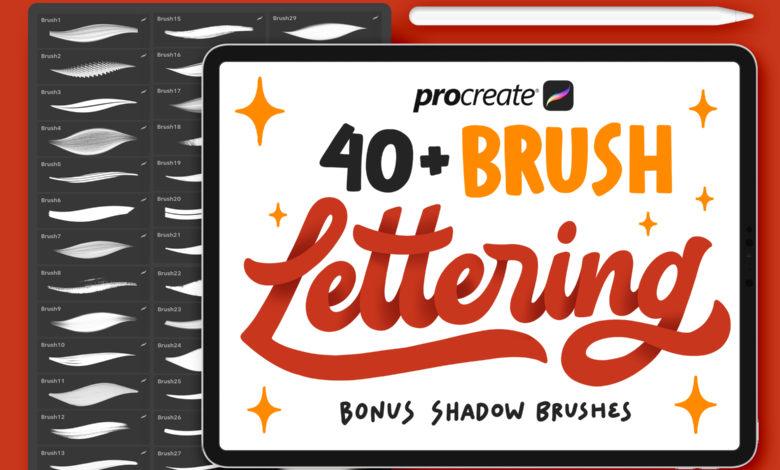 40 Procreate Lettering Brushes 3670705 Free Download Picgiraffe.com