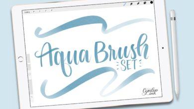 Custom Procreate Brush Aqua Set 1501623 Free Download Picgiraffe.com