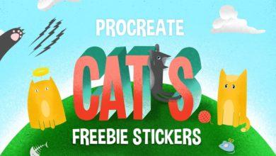 Free Procreate Stamp Brushes CATS Free Download Picgiraffe.com