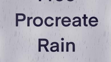 Free Procreate Rain Brush Free Download Picgiraffe.com
