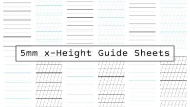 Photo of Guide Sheets 5mm x-height (Letter)