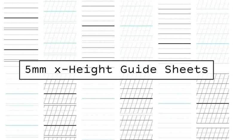 Guide Sheets 5mm X Height A4 Free Download Picgiraffe.com