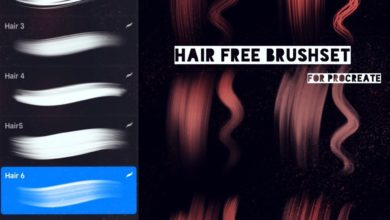 Hair FREE Brushset Procreate Free Download Picgiraffe.com