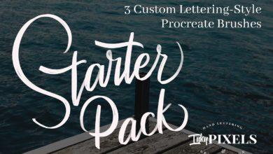 Lettering Starter Brush Set 2011104 Free Download Picgiraffe.com