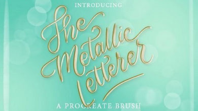 Metallic Letterer Procreate Brush Free Download Free Download Picgiraffe.com