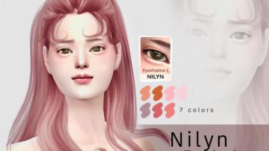 Nilyn Sims 4 CC Eyeshadow 001 7 Colors Free Download Picgiraffe.com
