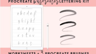 Procreate Hand Lettering Kit Free Download Picgiraffe.com