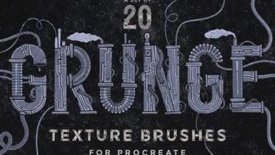 Photo of Procreate grunge texture brushes 1947722
