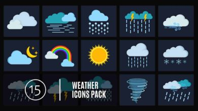 Photo of 15 Weather Icons Pack After Effects Templates