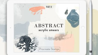 Photo of ABSTRACT ACRYLIC PROCREATE STAMPS FREE DOWNLOAD