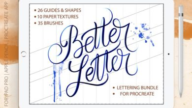Photo of BETTER LETTER PROCREATE BRUSH BUNDLE FREE DOWNLOAD