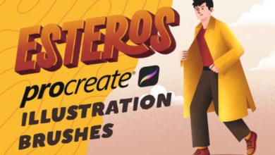 ESTEROS PROCREATE ILLUSTRATION BRUSHES Free Download Picgiraffe.com