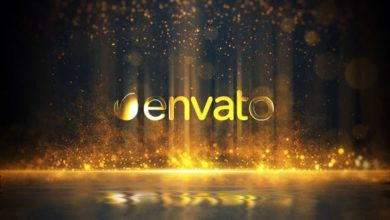 Golden Particles Glitter Logo After Effects Templates Free Download Picgiraffe.com